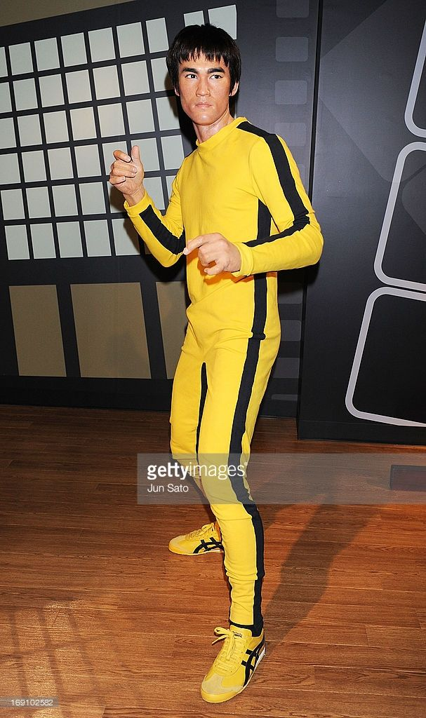 A general view of wax figuire of Bruce Lee is seen at Madame Tussauds on May 20, 2013 in Tokyo, Japan.