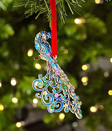 203 best Christmas ornaments: peacock images on Pinterest ...