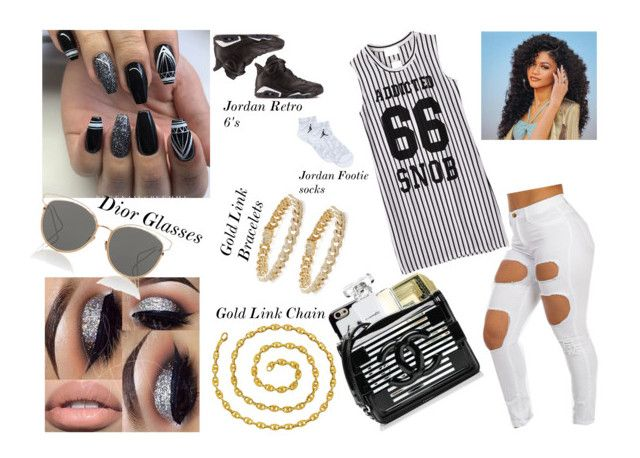 """""""Jersey Girl"""" by chynnadoll2017 ❤ liked on Polyvore featuring Chicnova Fashion, Chanel, Kate Spade, MAC Cosmetics, Jordan Brand, Christian Dior, Van Cleef & Arpels and Sydney Evan"""