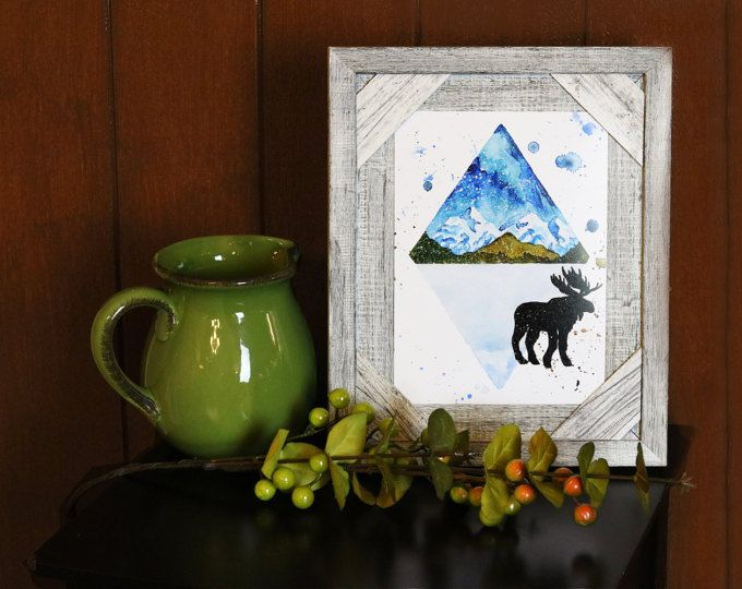 Canadian Mountain Moose Print  Browse unique items from WildNorthCreations on Etsy, a global marketplace of handmade, vintage and creative goods.