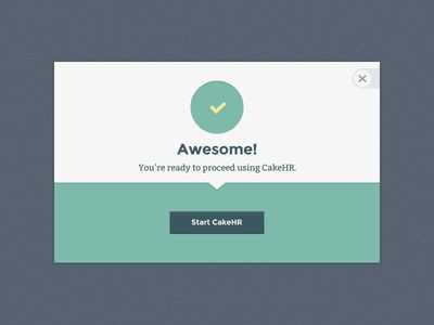 CakeHR Simple Modal  by Jason Li