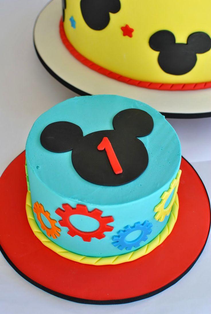 Mickey Mouse Smash Cake, Hope's Sweet Cakes, hopessweetcakes.com