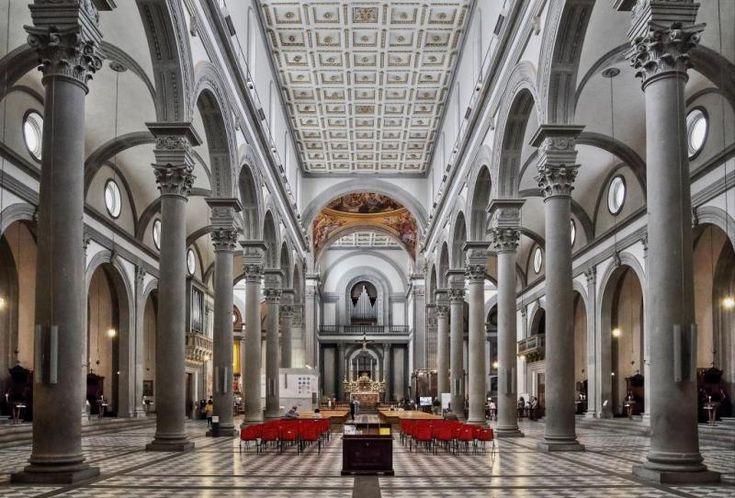 Best 25 filippo brunelleschi ideas on pinterest for Interior iglesia san lorenzo brunelleschi