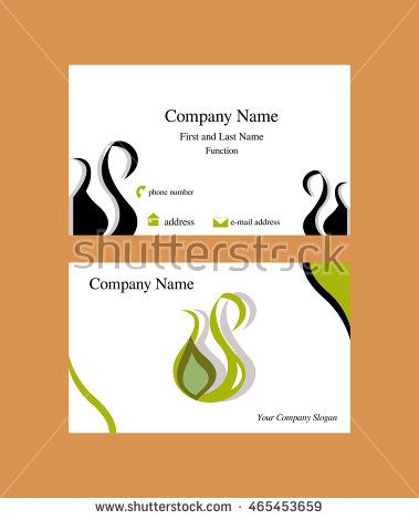 The 209 best business cards images on pinterest abstract business card with oil drop logo shaped as a cruet buy this stock vector on shutterstock find other images colourmoves