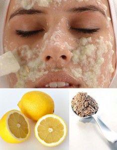 Exfoliante con avena: Mezcla una clara de huevo con jugo de limón, una cucharada de miel  y agrega suficiente avena hasta formar una pasta. Deja que actué por lo menos 20 minutos y después  lavar con agua fría,  esto ayudara a cerrar los poros.