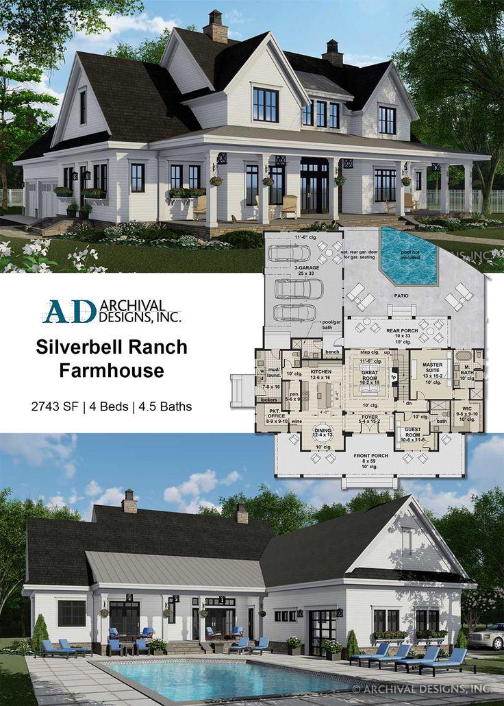 Silverbell Ranch Farmhouse Plan