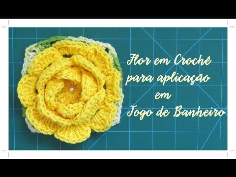 Flor Vitória Régia - Crochê - YouTube