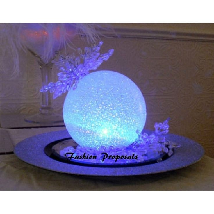 LED Centerpieces balls Set of 12 Led orbs, globes, special occasion decor  set of