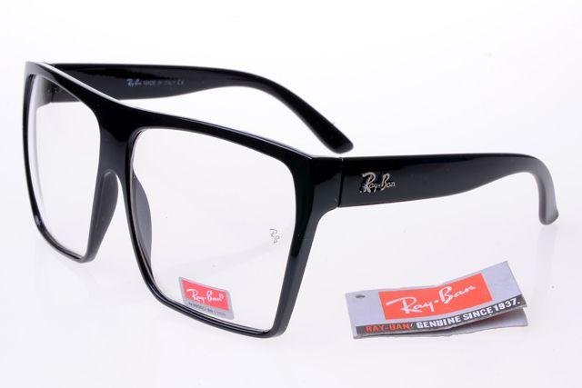 Ray Ban Square Frame Glasses : Ray-Ban Square 2128 Black Frame Transparent Lens RB1055 ...