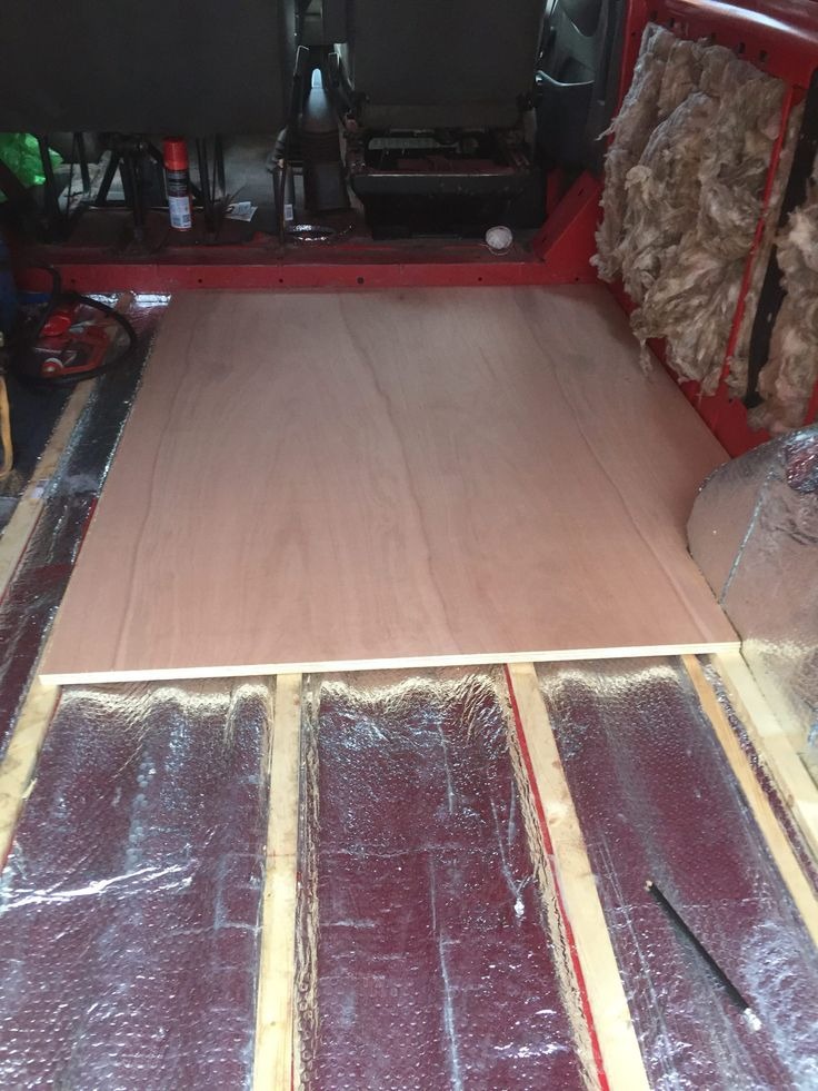 Laying the floor for my van conversion