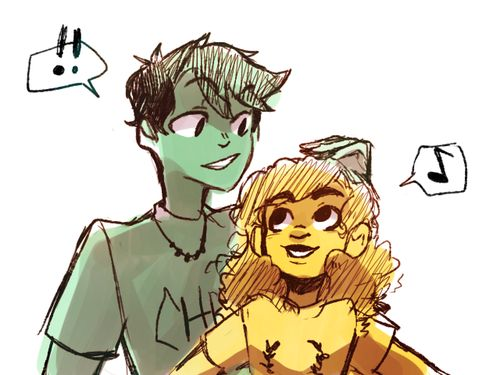 Percy realizing that Hazel is getting taller (further proof that there is something in those Camp Jupiter food) and both being proud of her