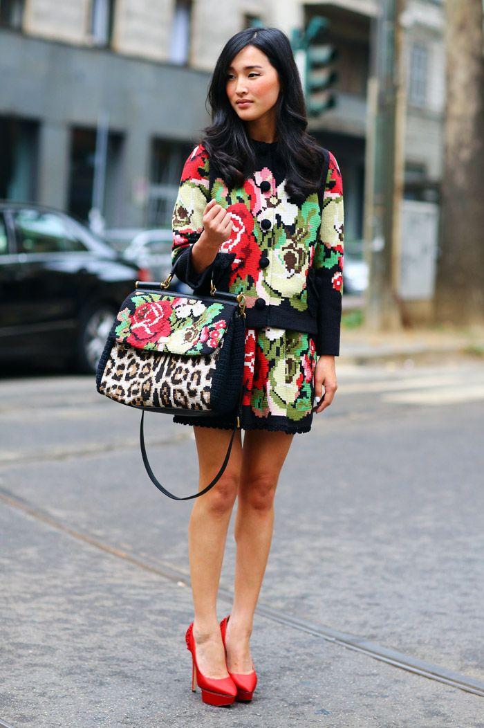 Nicole Warne, Dolce & Gabbana | Street Fashion | Street Peeper | Global Street Fashion and Street Style