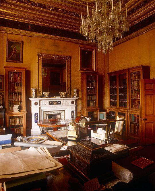 Alnwick Castle ~ The Manuscript Room The 4th Duke knocked out the 1st Duchess's Adam chapel and library and built a suite of rooms for himself and his wife, including this former boudoir, now the Manuscript Room.