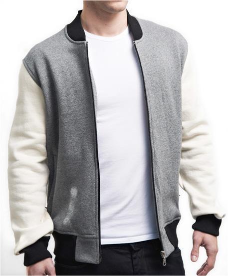 Unisex Full-Zip Heritage Varsity Jacket