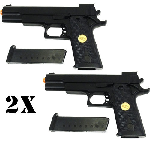 2x DE Desert Eagle P169 Colt M1911 .45 Cal Pistol Spring Power Airsoft Gun Black $20