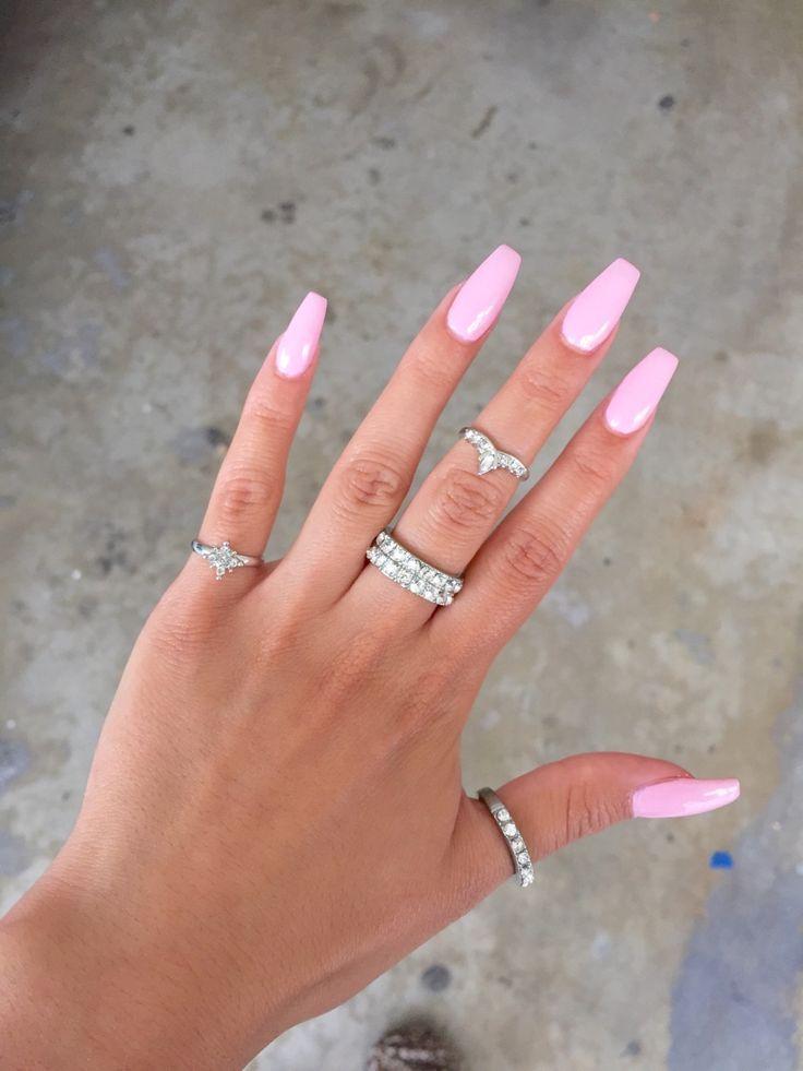Pink Design Pink Acrylic Nails Summer Acrylic Nails Acrylic Nails
