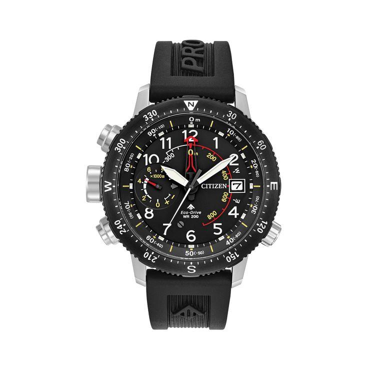 Promaster ALTICHRON    Moldelo: BN4044-15E    Con un altímetro que mide desde 300 metros de profundidad hasta los 10,000 metros de altura, brújula, fechador, este reloj es la pieza ideal para cualquier aventurero semi-profesional.