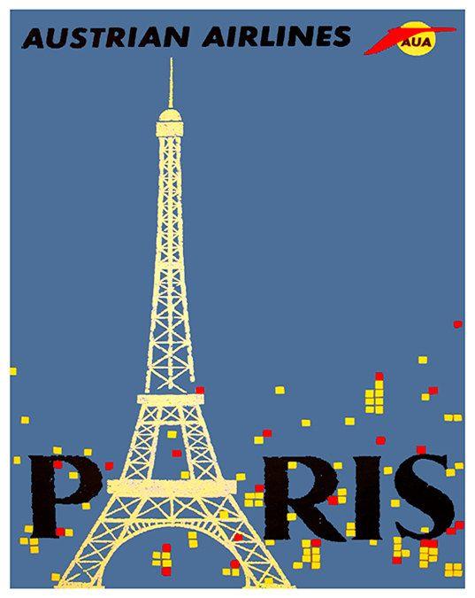 Paris Art Travel Poster France Print Home Decor by Blivingstons