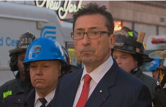 Daniel A. Nigro, Commissioner of the New York City Fire Department. Press conference in the #EastVillage at 7:10PM 3/29 Live stream courtesy Channel 7 Eye Witness News #FDNY