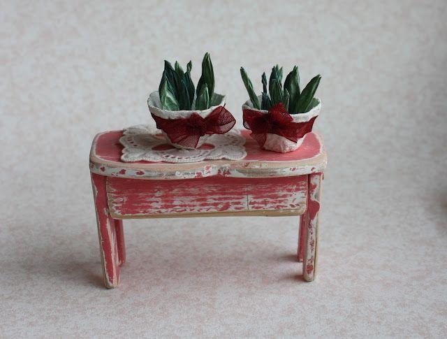 Lasituvan Miniatyyrit - Lasitupa Miniatures: DIY: Tiny pots - pienet kukkaruukut 1/12