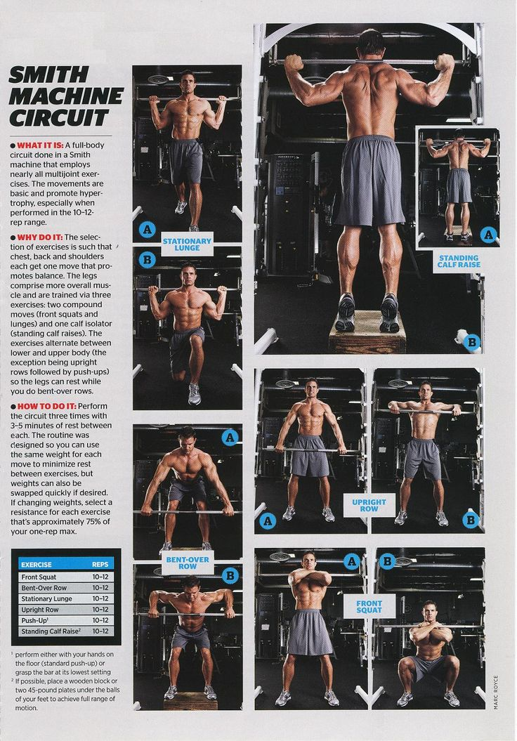 smith machine workout