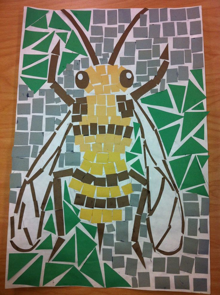 Bee Mosaic- project example (art teacher: v. giannetto)