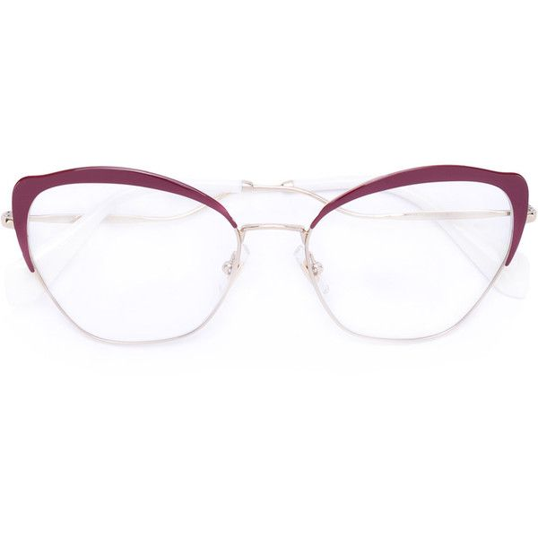 Miu Miu Eyewear cat eye glasses frames (1.141.800 COP) ❤ liked on Polyvore featuring accessories, eyewear, eyeglasses, cat eyeglasses, miu miu eyewear, miu miu, cat-eye glasses and miu miu glasses