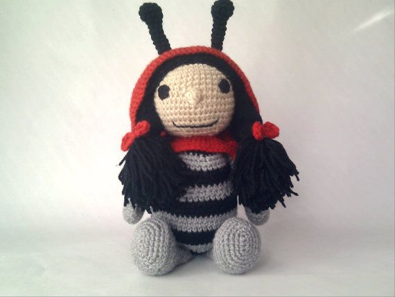 Ladybug Amigurumi Crochet Stuffed Toy Animal