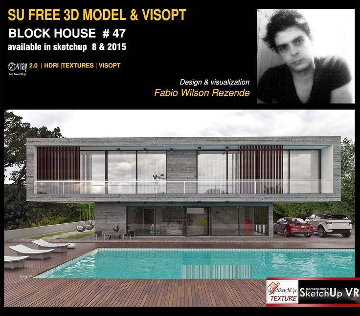 Les 244 meilleures images du tableau sketchup free 3d for Modele maison sketchup