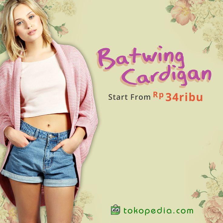 Bosan dengan cardigan biasa? Sekali-sekali coba pakai batwing cardigan! Berbagai model batwing cardigan, mulai Rp 34.000,- bisa kamu temukan di http://www.tokopedia.com/hot/batwing-cardigan