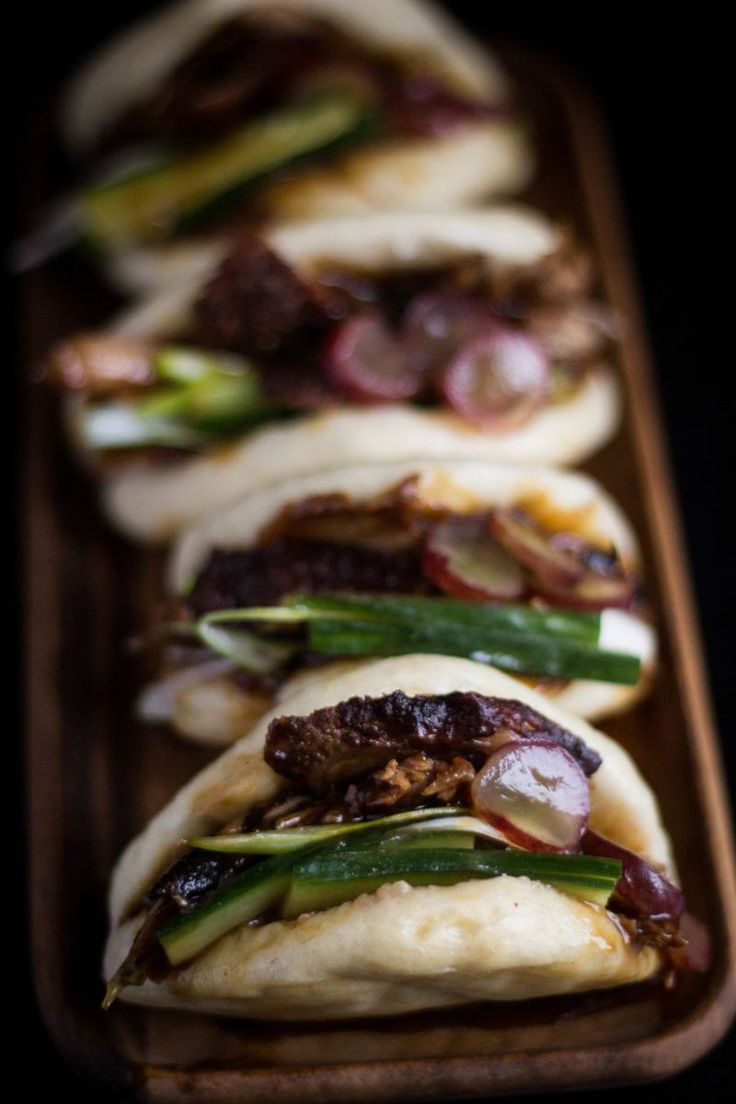 Steamed Buns with Duck and Pickled Grapes | Figs and Pigs