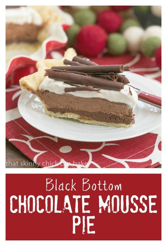 Black Bottom Chocolate Mousse Pie | A layered chocolate sensation! @ ...