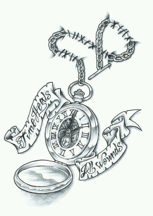 Pocket Watch Tattoo Make The Chain An Infinity Symbol No Hands On