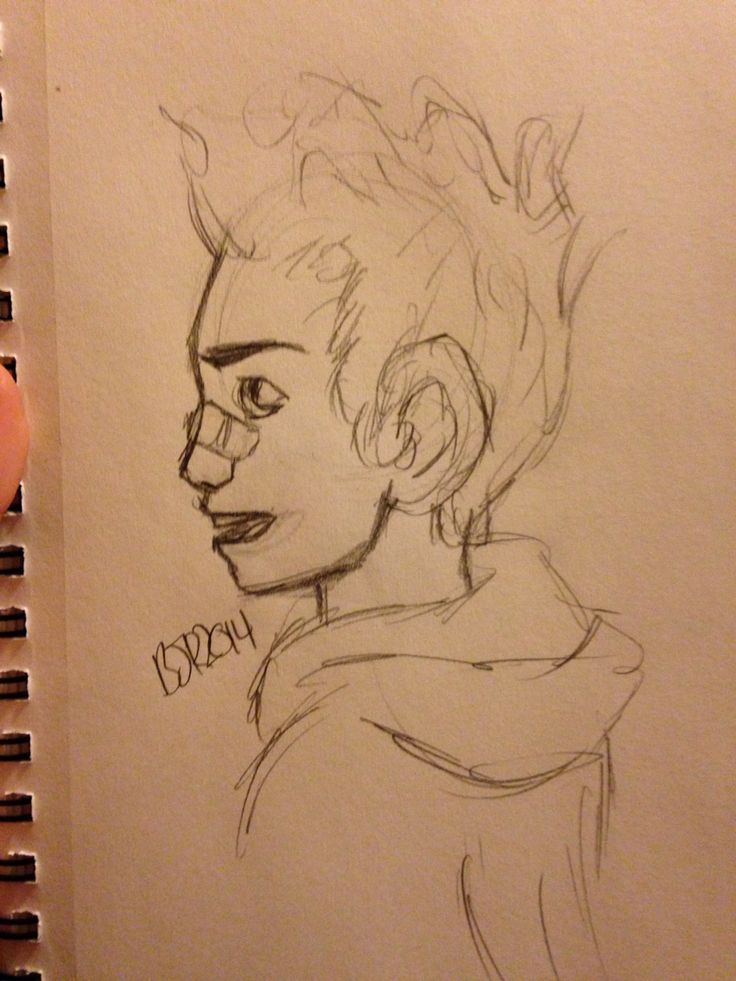 My attempt at Damian Wayne from the side (Briannah Ralls)
