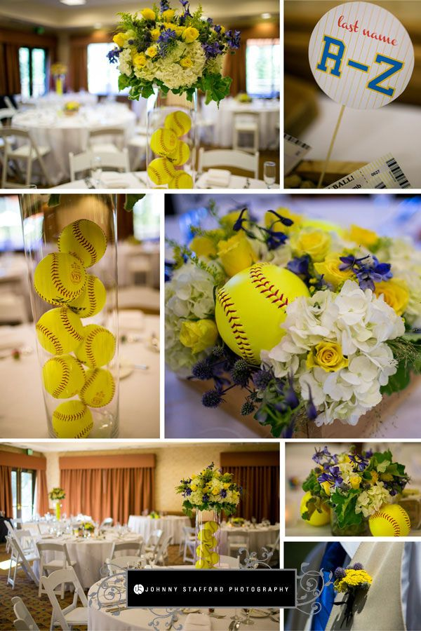 Softball-themed wedding - Tenaya Lodge & Glacier Point Yosemite Wedding - www.johnnystaffordphotography.com - www.addyrosedesign.com