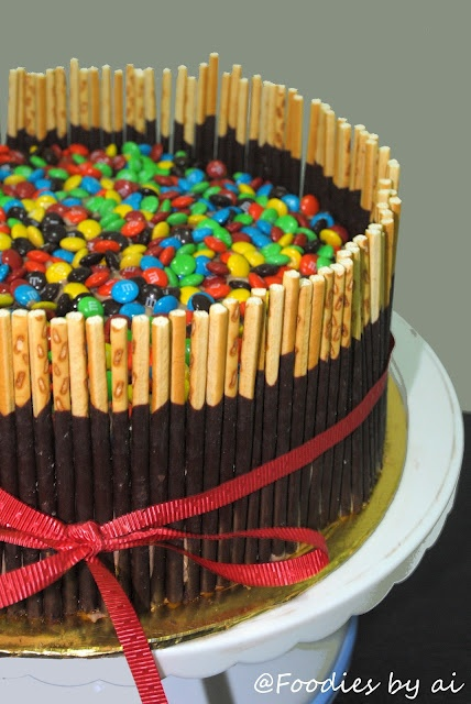should make this for Zo's bday next year... | Pocky  ms Chocolate Cake#Repin By:Pinterest++ for iPad#