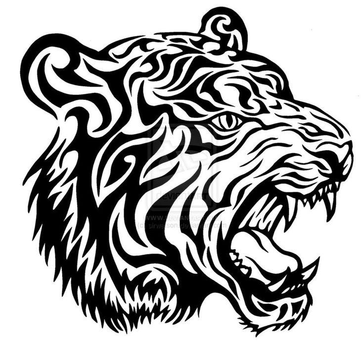 Tiger head drawing - photo#28