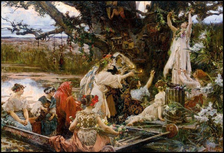 Bajo el árbol consagrado a Ceres - Pintura de Francisco Pradilla -1903