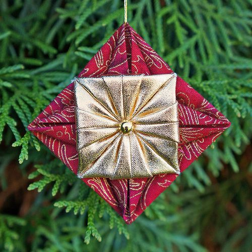 Picture Of Diy Origami Ornaments: Fabric Origami On Pinterest
