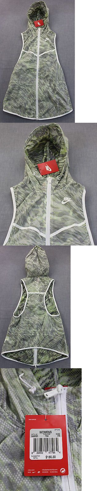 Jackets and Vests 59285: Nike Women Volt Green White Light Tech Hooded Full Zip Running Vest Nwt Xs $150 -> BUY IT NOW ONLY: $59.99 on eBay!