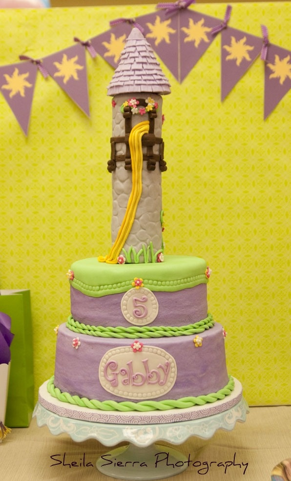 Rapunzel Tower Cake Busy Philipps