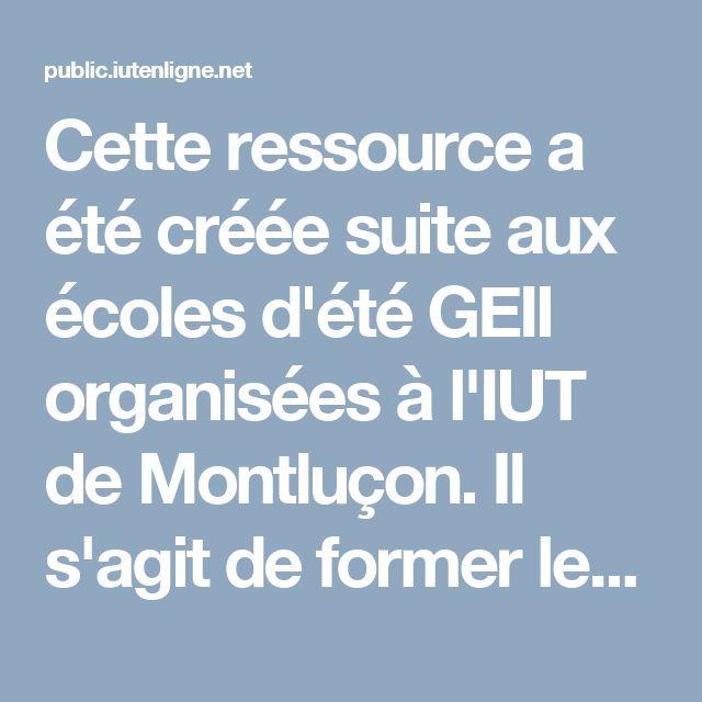 """Cette ressource a été créée suite aux écoles d'été GEII organisées à l'IUT de Montluçon. Il s'agit de former les étudiants de GEII à la programmation orientée-objet avec le langage Java. Ce cours suit l'approche """"les objets d'abord"""" appliquée au domaine de l'informatique industrielle."""