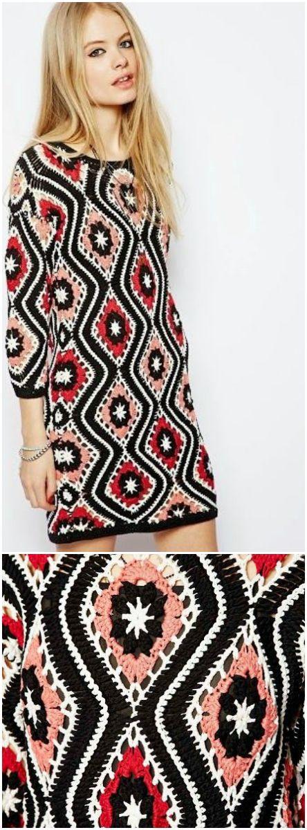 60s Inspired diamond shift dress