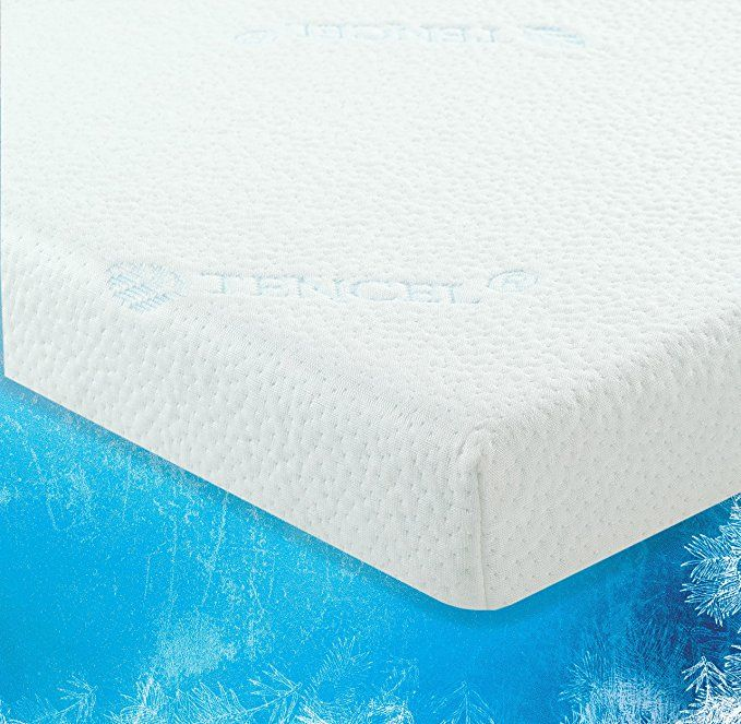 Luxliving 2 5 Inch Cooling Gel Infused Memory Foam Mattress Topper With Removable Washable Zippered Tencel Cover Certipur Certified Self Approved King S Memory Foam Mattress Topper Mattress Topper Foam Mattress Topper