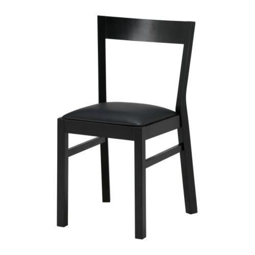 ROGER  Sedia, nero, Bas nero  €55,46  Numero articolo:401.559.43  Sedile in pelle resistente, imbottito: facile da pulire.