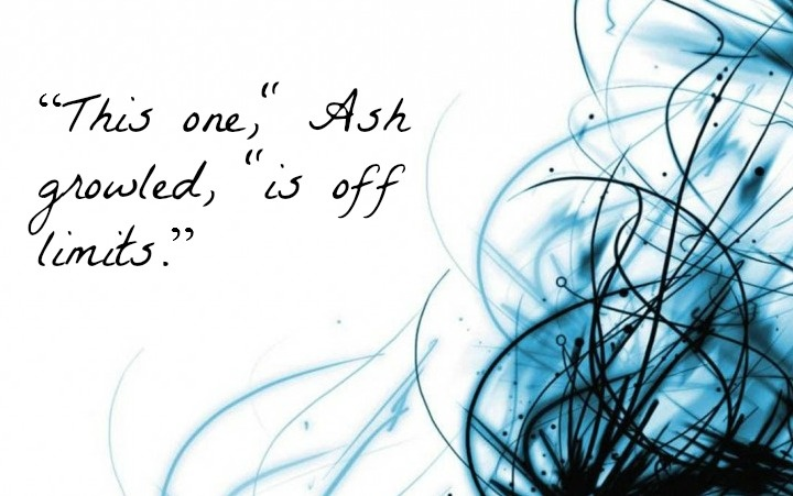 """The Iron Fey Series by Julie Kagawa Quote """"This one,"""" Ash growled, """"is off limits."""" - Prince Ash Quote. I love when Ash says this in defense for Meghan."""