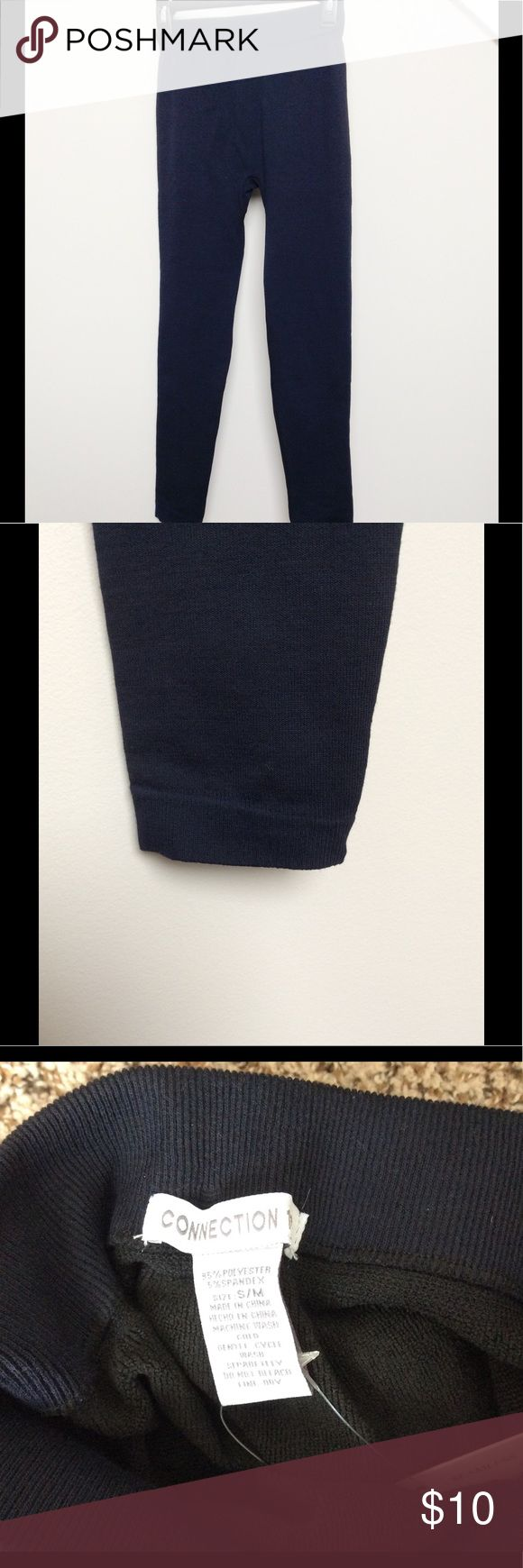 """Black NWT Leggings, Size S Thick black leggings that are NWT.  Size on tag says """"S/M"""" but they fit more like a small.  Elastic waistband and elastic cuffs at the bottom (see photo).  Inseam is 26.5, so they may fit more like capri leggings (unless you are a shortie like me!).  Material is thicker (kind of feels like sweatpants on the outside). Pants Leggings"""