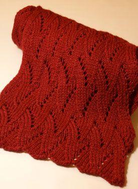 Winter Flame Scarf - Free Knitting Patterns by juliet romeo juliet