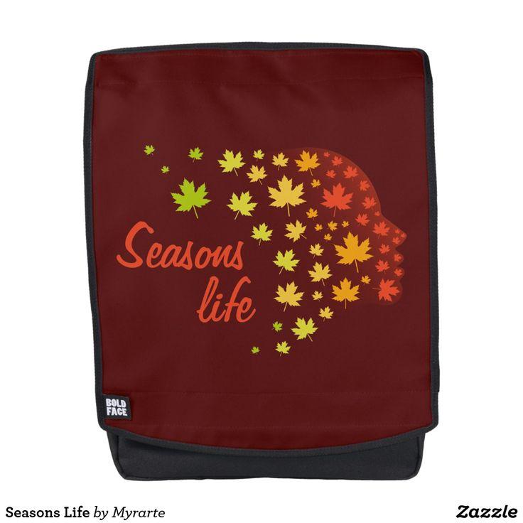Seasons Life. Producto disponible en tienda Zazzle. Accesorios, moda. Product available in Zazzle store. Fashion Accessories. Regalos, Gifts. #mochila #backpack