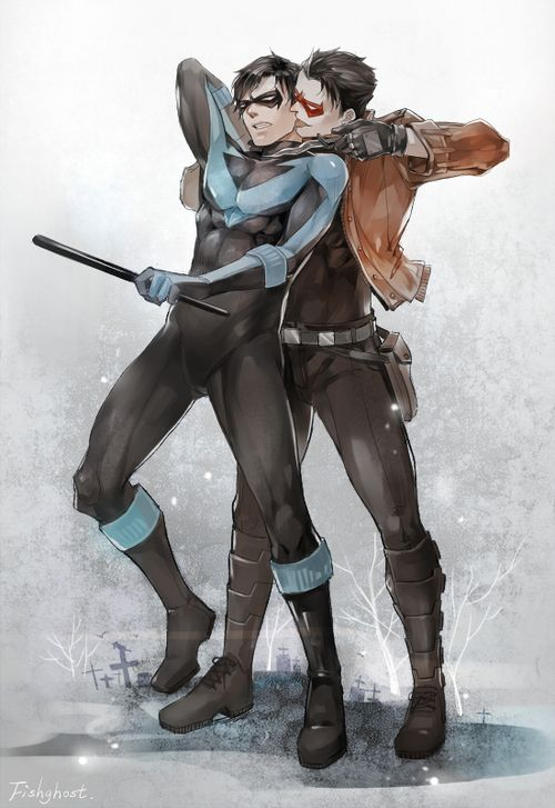 Nightwing and Red Hood I may have a slight fixation with the Robins....